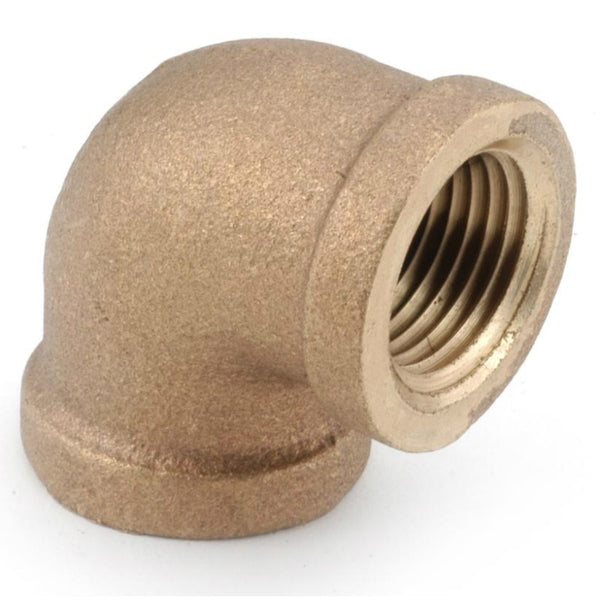 Anderson Metals 738100-16 Lead Free 90 Degree Cast Elbow, Rough Brass, 1""