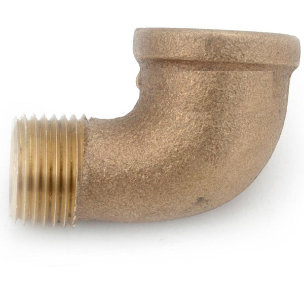 Anderson Metals 738116-16 Lead Free 90 Degree Street Elbow, Rough Brass, 1""