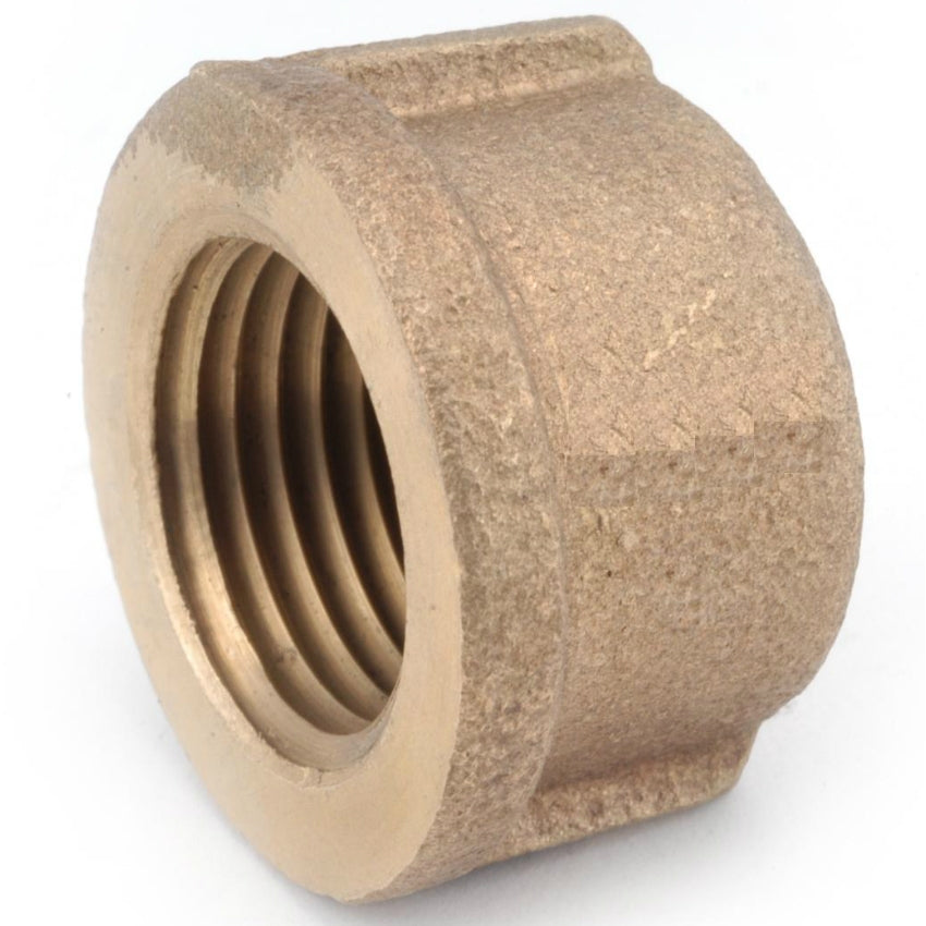 Anderson Metals 738108-12 Lead Free Pipe Cap, Rough Brass, 3/4""