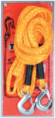 "Service Tool ETR-14 Emergency Poly-Braid Tow Rope with Hooks, 5/8""x14'"