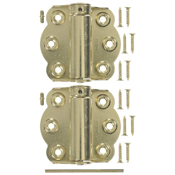 "Wright Products™ V650 Adjustable Self Closing Hinge, Brass Plated, 2-3/4"", 2-Pack"