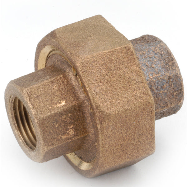 Anderson Metals 738104-04 Lead Free Pipe Fitting Union, Red Brass, 1/4""