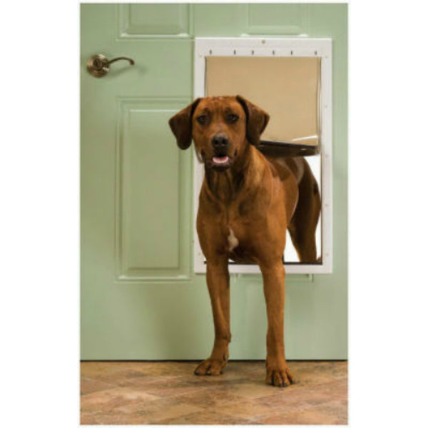PetSafe® PPA00-10961 Plastic Frame Pet Door, X-Large, White