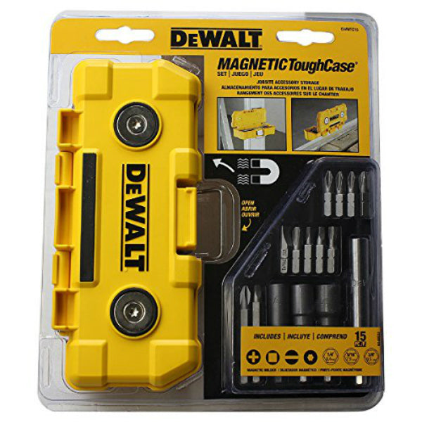 DeWalt® DWMTC15 Magnet Tough Case, 15-Piece
