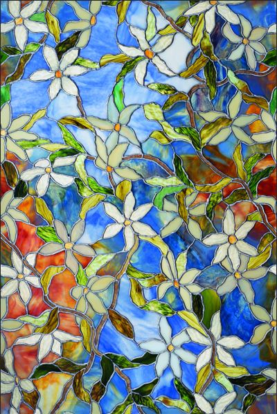 "Artscape® 02-3007 Clematis Design Window Film, 24"" x 36"""