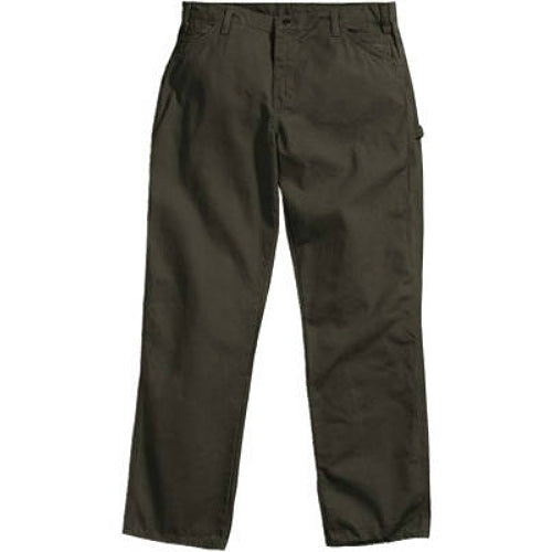 "Dickies 1939RMS4230 Men's Relaxed Fit Duck Carpenter Jeans, 42""x30"", Moss Green"
