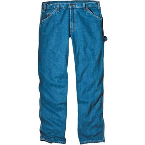 "Dickies 1993SNB4032 Relaxed Fit Carpenter Jeans, 40"" x 32"", SW Indigo Blue"
