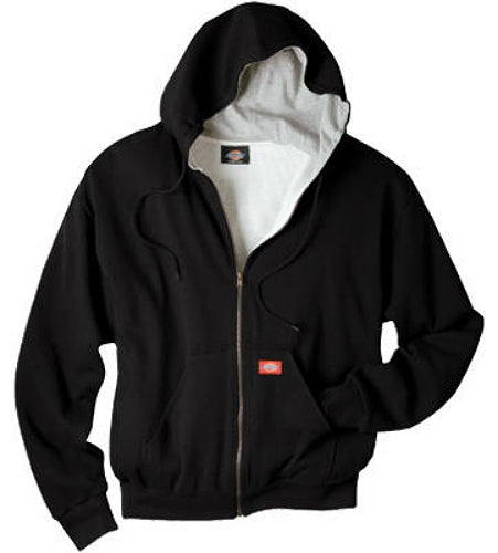 Dickies TW382BKXL Men's Thermal Lined Hooded Fleece Jacket, Extra Large, Black