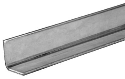 "SteelWorks 11098 Galvanized Solid Angle 1""  x 1"", 14 Gauge"