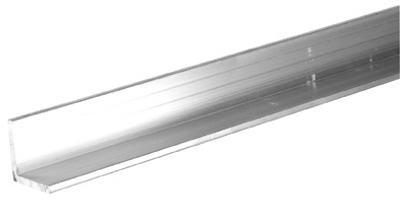 "SteelWorks 11339 Aluminum Angle, 1/8"" x 1-1/2"", 48"" Long"