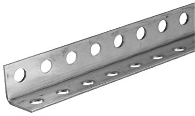 "SteelWorks 11133 Steel Perforated Angle, 1-1/4"" x 1-1/4"", 12 Gauge"