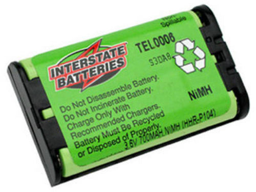 Interstate Batteries TEL0006 Panasonic Cordless Telephone Battery, 3.6V, 700Mah