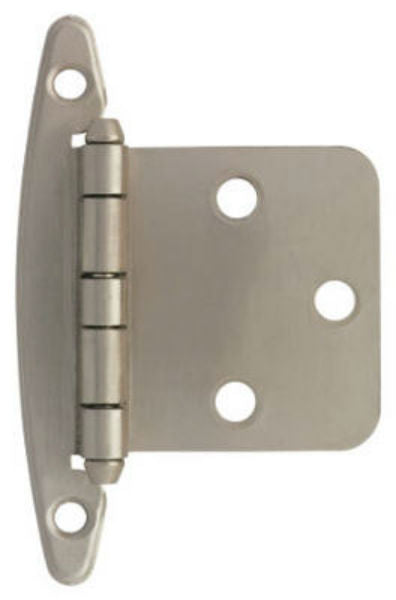 Liberty H01010L-SN-U Overlay Hinge without Spring, Satin Nickel, 2 Pack