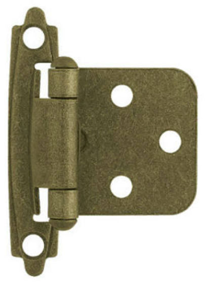Liberty H0103BL-AB-U Self-Closing Overlay Hinge, Burnished Antique Brass, 2-Pack