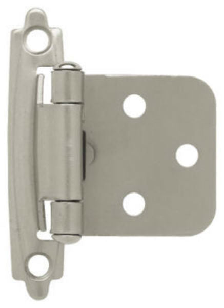 Liberty H0103BL-SN-U1 Self-Closing Overlay Hinge, Satin Nickel, 10-Pack