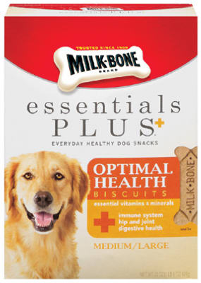 """Milk-Bone"" Essentials Plus+ Optimal Health Biscuits 22 Oz - Medium/Large"