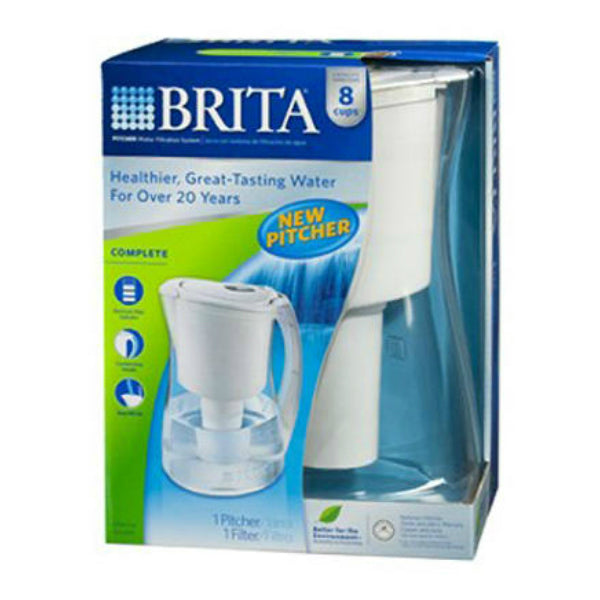 Brita® 35513 Marina Pitcher with Filter, 8-Cup