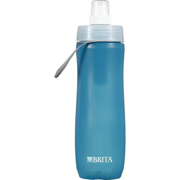 Brita® 35558 Squeezable Water Bottle with Filter, Blue, 20 Oz