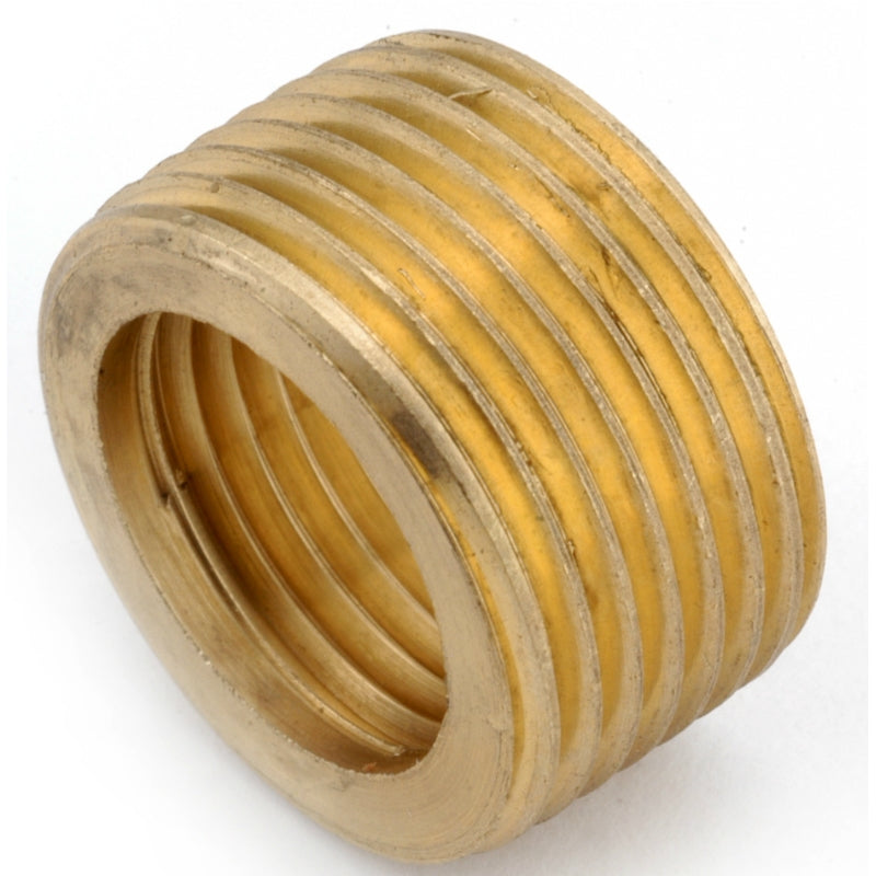 "Anderson Metals 736140-1208 Lead Free Face Bushing, Brass, 3/4"" x 1/2"""