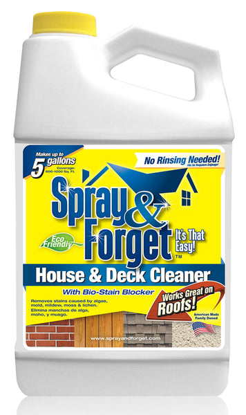 Spray & Forget  SFHD64OZ-4 House & Deck Cleaner, 64 Oz