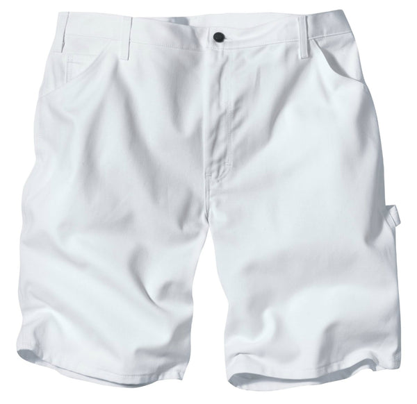 "Dickies DX400WH32 Relaxed Fit Cotton Painters Shorts, 32"" x 11"", White"