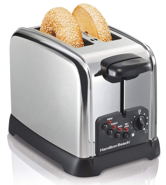 Hamilton Beach 22790 2-Slice Classic Bagel Toaster, Chrome
