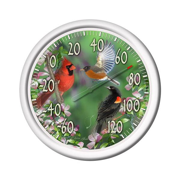 Springfield® 90007-217 Spring Birds Dial Thermometer, 13.25""