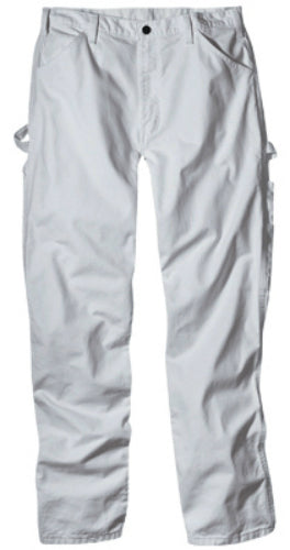 "Dickies 1953WH3032 Men's Relaxed Fit Painter's Pants, 30"" x 32"", White"