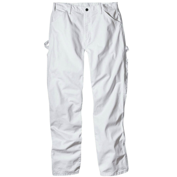 "Dickies 1953WH3034 Men's Relaxed Fit Painter's Pants, 30"" x 34"", White"