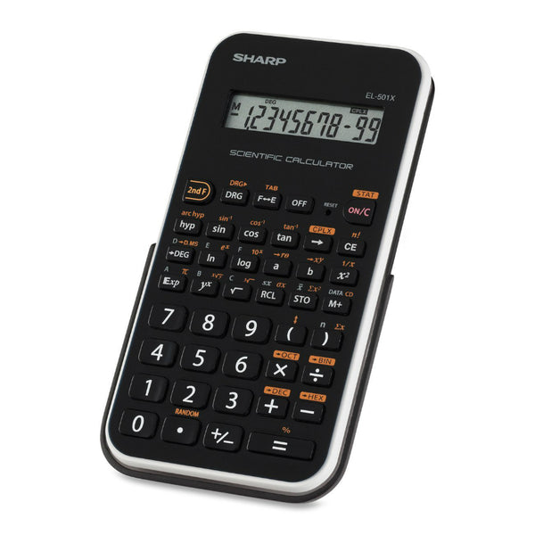 Sharp® EL501XBWH 10-Digit Engineering/Scientific Calculator with LCD Display