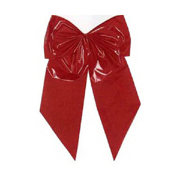 Holiday Trim 7256 Red Poly 2-Loop Bow for Christmas Decoration, 24""