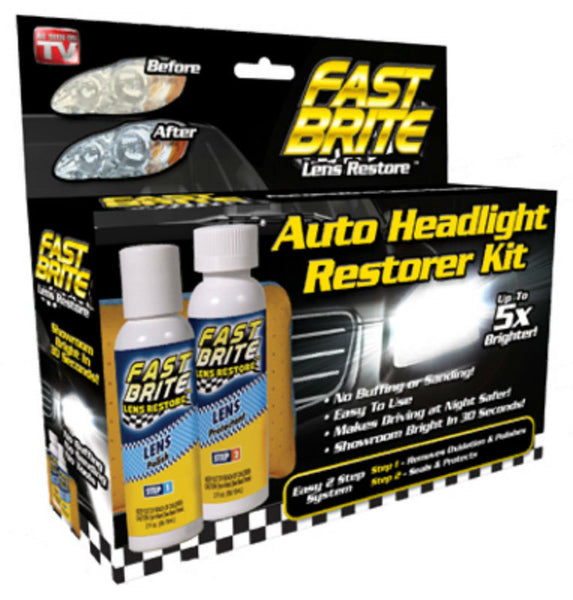 Fast Brite™ FB1000 Auto Headlight Lens Restorer Kit, As Seen On TV