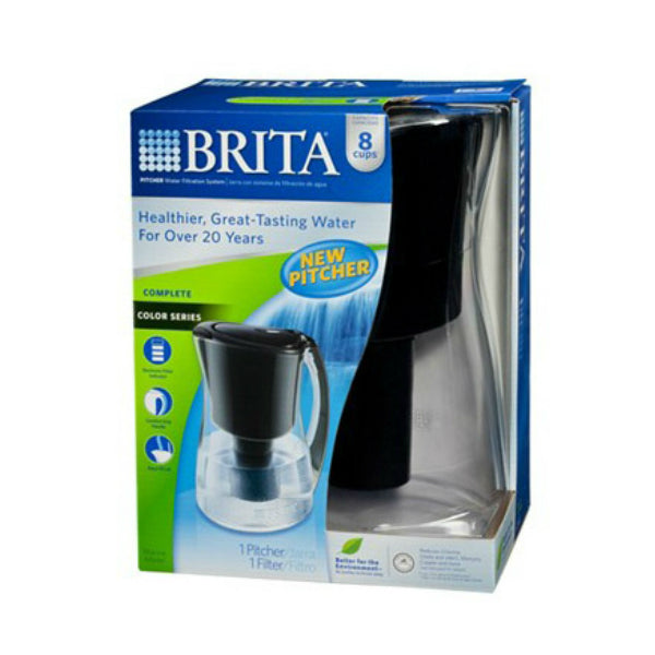 Brita® 35659 Marina Pitcher with 1 Filter, 8-Cup, Black