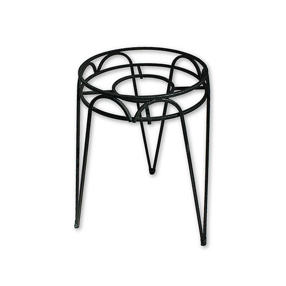 "Border Concepts 72250 Wrought Iron Hampton Plant Stand, Black, 10"" x 30"""