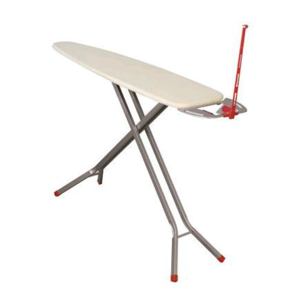 Household Essentials 865500 Deluxe 4-Leg Iron Board w/Iron Rest & Cord Minder