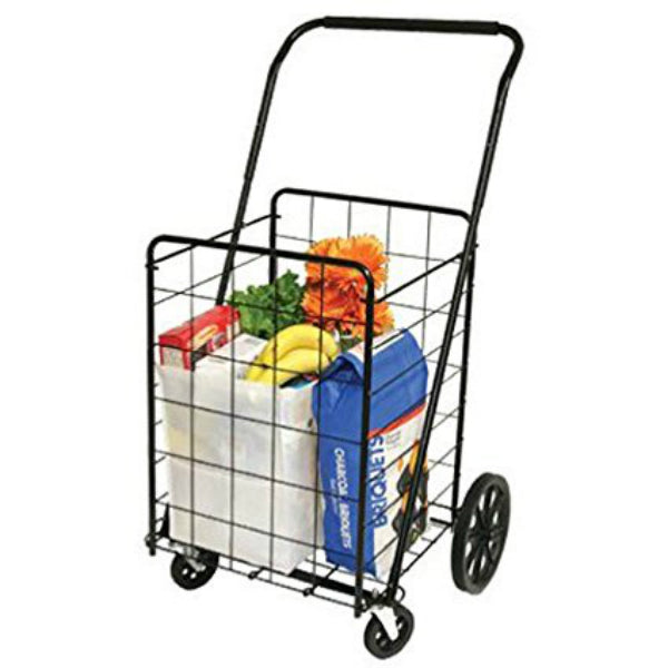 Faucet Queens 39720 Super Deluxe Swiveler Shopping Cart w/Swivel Front Wheels