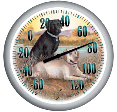 Springfield 90007-60 Labradors Large Dial Thermometer, 13.25""