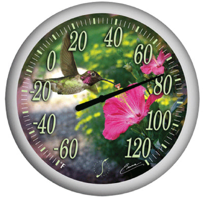 Springfield 90041 Hummingbird's Bouquet Thermometer, 13.25""