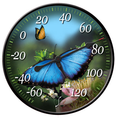 Springfield 91426 Butterfly with Lenticular Motion Thermometer, 12""