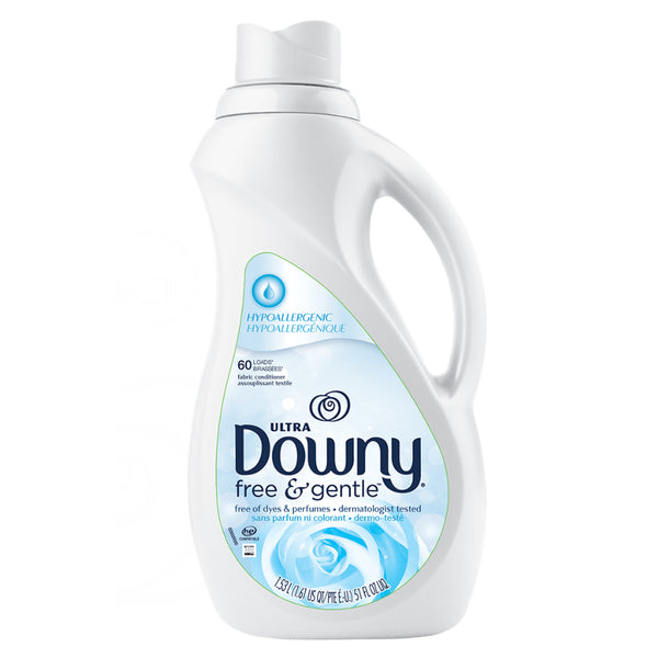 Ultra Downy® 39686 Free & Gentle™ Liquid Fabric Softener, 51 Oz (60 Loads)