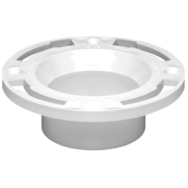 "Oatey® 43525 PVC Long Pattern Replacement Closet Flange, 3"" Or 4"""