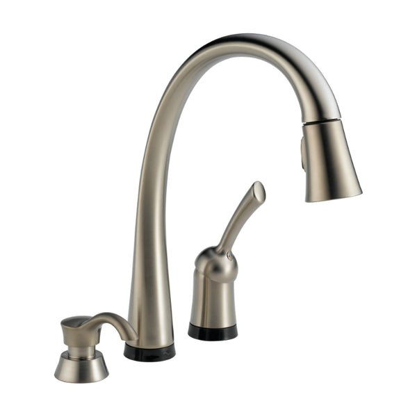 Delta® 980T-SSSD-DST Pilar® Pull-Down Kitchen Faucet W/Touch2O & Soap Dispenser