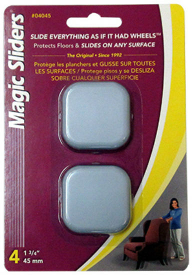 Magic Sliders® 04045 Square Self-Adhesive Slider, 4-Pack, 1-3/4""