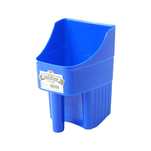 Little Giant 150415 Enclosed Plastic Feed Scoop, 3 Qt, Blue