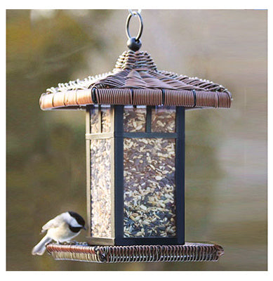 "Audubon™ NA31985 Metal Square Wicker Lantern Bird Feeder, 11.5"", 2 Lbs"