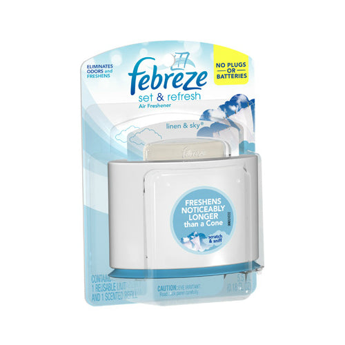 Febreze 29215 Set & Refresh Air Freshener Starter Kit, Linen & Sky Scent
