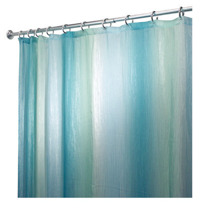 "InterDesign® 35804 Ombre Print Shower Curtain, 72"" x 72"", Blue & Green"
