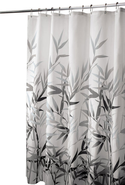"InterDesign® 36527 Leafy Bamboo Printed Anzu Fabric Shower Curtain, 72"" x 72"""