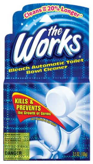 The Works 33201WK Bleach Automatic Toilet Bowl Cleaner, 3.5 Oz