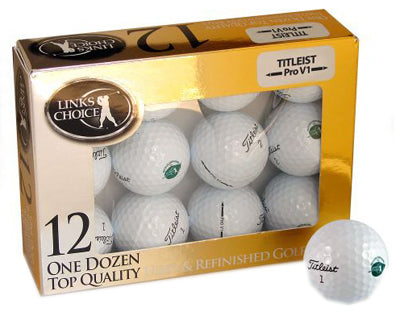 Top Quality Used & Refinished Titleist Pro-V1 Golf Balls, 12 Pack